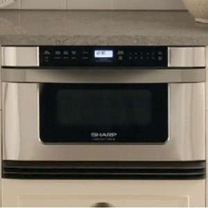 24 Microwave w/ Built in Drawer   Stainless Steel from Abes of Maine