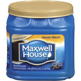 Maxwell House Master Blend Custom Roasted Full Flavor Coffee, Maxwell