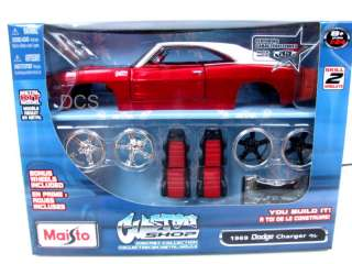 Maisto 1969 DODGE CHARGER R/T Model Kit RED 1/24 Car