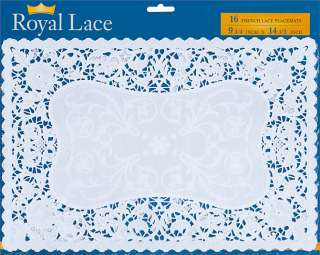 Craft Supplies   French Lace Paper Doilies   9.75X14.5 White 16/Pkg