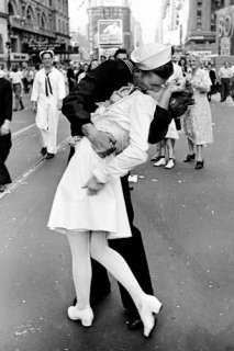 Kissing on VJ Day   Times Square Poster by Alfred Eisenstaedt at