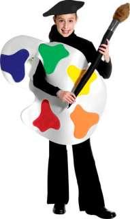 Childs Boys Or Girls Artist Palette Halloween Costume