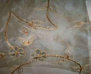 Pindler Jouvi Embroidered Sheer Silk Organza Fabric 10Y