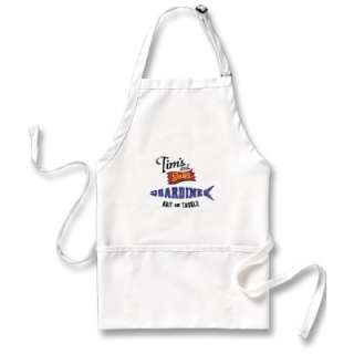 Tims and Sons Sardine, Bait and Tackle Shop Aprons from Zazzle