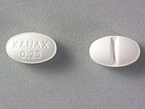 Picture XANAX 0.25MG TABLETS  Drug Information  Pharmacy