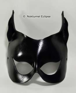 CATWOMAN BLACK LEATHER MASK BATGIRL HALLOWEEN COSTUME