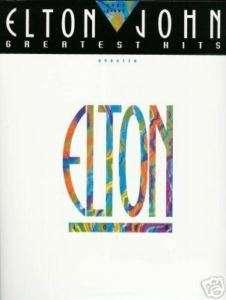 ELTON JOHN GREATEST HITS   Easy Piano P/V/G MUSIC BOOK
