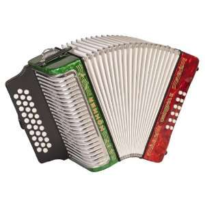 Hohner Accordions 3500GRWG 43 Key Accordion: Musical
