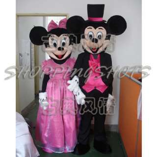Mickey Minnie mouse MASCOT COSTUME R00456 Fancy Dress adult one size