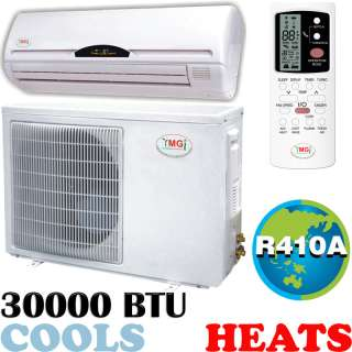 Ductless Air Conditioner Mini Split AC Heat Pump 30000 BTU Cooling A/C