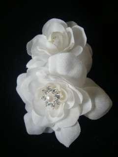 Elegant White Gardenia Hair Flower Clip