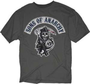 SONS OF ANARCHY Logo Patch M XXXL tee t Shirt NEW SOA