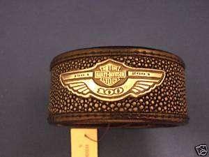 HARLEY ANNIVERSARY 100TH 100 BRACELET CUFF S.S 10K GOLD
