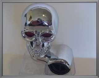 Chrome Skull Suicide Knob Steering Wheel Spinner   Car Truck Hotrod