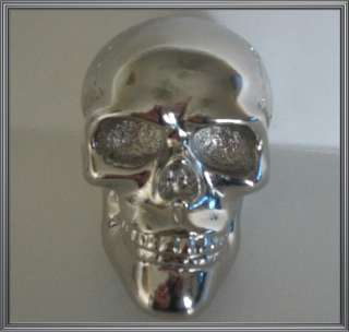 Custom Chrome Skull Stick Shift Gear Shifter Knob   Hotrod Ratrod Car