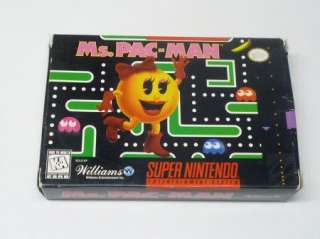Super Nintendo SNes Ms Pac Man Game In Box