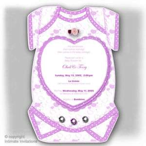 12 Heart Onesie Boy Girl BABY SHOWER INVITATIONs PRP