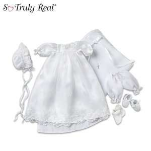 So Truly Real Baby Doll Clothing Christening Ensemble
