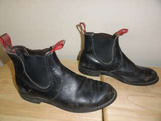 Mens Black Leather Double Goring RED WING CHELSEA CHUKKA BOOTS # 8193