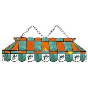 MIAMI DOLPHINS LOGO 40 CEILING LAMP POOL TABLE LIGHT