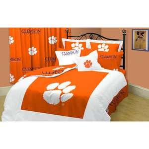 NCAA   Clemson Tigers Queen Comforter Set