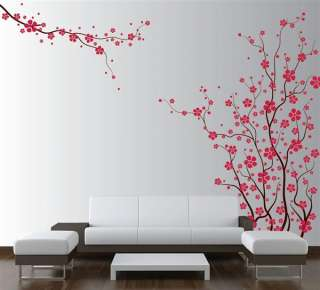 Wall Tree Nursery Decal Japanese Magnolia Cherry Blossom Flowers #1121