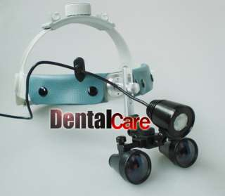 Dental Lab Portable LED Head Light With Headband Loupe