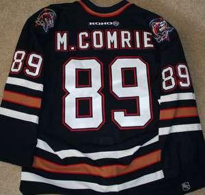 Mike Comrie Edmonton Oilers NHL Game Worn Jersey MeiGray COA 2000 01