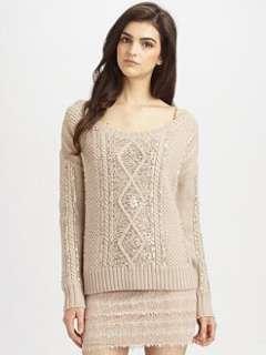 Haute Hippie   Embellished Aran Sweater