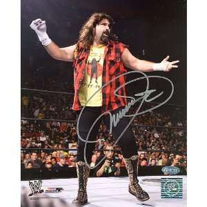 Steiner Sports Mick Foley Mankind Sock on Hand Autographed 8 by 10