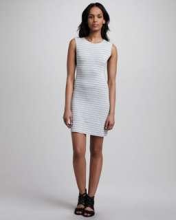 Jane Striped Jersey Dress, Gray/White