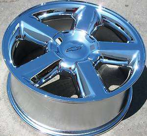 20 FACTORY CHEVY TAHOE AVALANCHE SILVERADO SUBURBAN CHROME OEM WHEELS