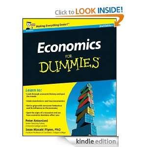 Economics For Dummies, UK Edition: Sean Masaki Flynn, Peter Antonioni