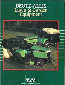 DEUTZ ALLIS TRACTOR LAWN & GARDEN EQUIPMENT BROCHURE   MOWER, DUMP