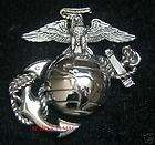 EAGLE GLOBE & ANCHOR PIN US MARINE CORPS MARINES EGA XL