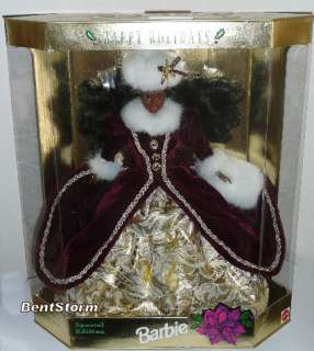 96 HAPPY HOLIDAYS BARBIE Collectible DOLL AA Christmas