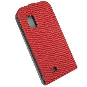Malcom Distributors Red Pattern Flip Phone Case for