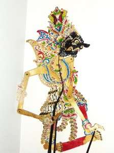 Old Shadow Puppet Wayang Kulit Indonesian Asian Java
