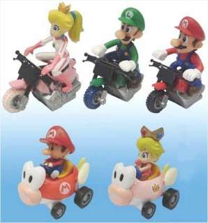 Collectable Party Favors Super Mario Bros 5pc Kart Set