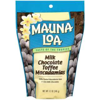Mauna Loa Milk Chocolate Toffee Macadamias, 12 Oz