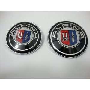 High Quality BMW Alpina 82mm + 73mm Hood Trunk Emblem