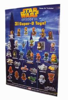 BURGER KING STAR WARS ROTS 31 TOY DISPLAY POSTER VADER