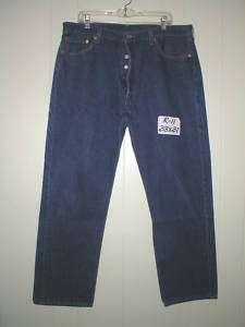 LEVIS 501 Button Fly Denim Jeans Mens 38 X 31 USA