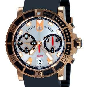 Ulysse Nardin Maxi Marine Diver Chronograph Mens Rose Gold Watch 8006