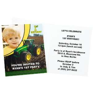 John Deere 1st Birthday Personalized Invitations (8