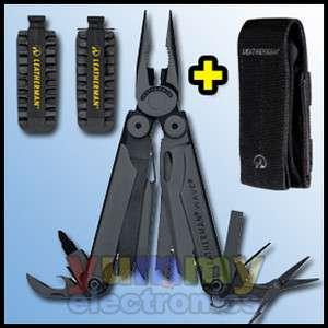 New Leatherman Wave Military Black Multi Tool & Molle Sheath & 42PC