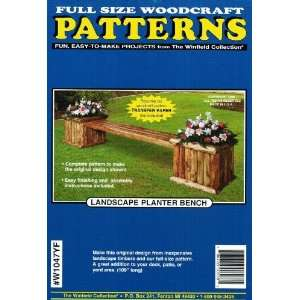 Landscape Planter Bench Woodworking Plan Arts, Crafts