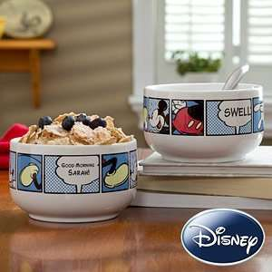 Personalized Disney Mickey Mouse Bowl
