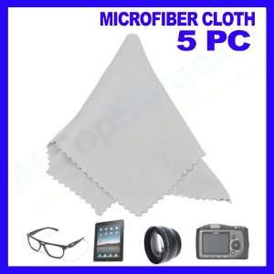 5 pc Microfiber Optical Cleaning Cloth Eyeglass Lens Lcd