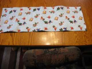 Quilted Table Runner Christmas M & Ms M&Ms penguins reversible blue